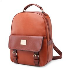 Women Backpacks Girl Student School Bags PU Leather Travel Rucksack - Banggood Mobile