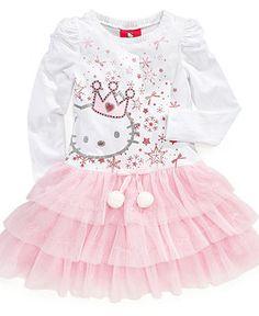 Hello Kitty Girls Dress, Little Girls Tutu Dress - Kids Hello Kitty - Macy's