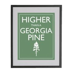 """when you've had too much to drink -""""I'm higher than a Georgia pine"""" - saying"""
