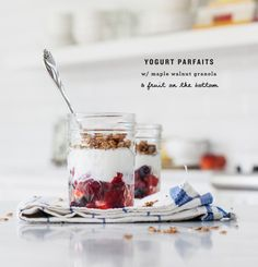 (via maple walnut granola parfaits | Love and Lemons)   #healthy #vegetarian #vegan #recipes Find more healthy recipes @ http://standouthealth.com