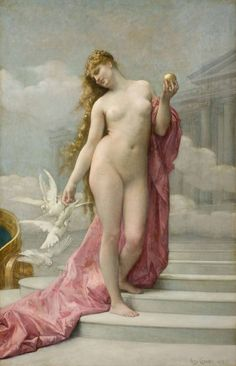 "witchyes: "" 30 days of Aphrodite, Day Your favourite works of art related to, or depicting Aphrodite. (From top to bottom) Vénus Victorieuse by Cabanel, At the Swan Lake by Hans. Aphrodite, Tile Art, Tile Murals, Lawrence Alma Tadema, The Birth Of Venus, Goddess Of Love, Goddess Art, Pre Raphaelite, Gods And Goddesses"