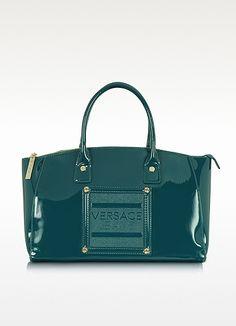 Versace Versace Jeans - Patent Eco Leather Satchel