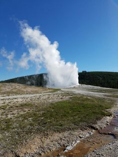 Old Faithful from Yellowstone National Park. Also, took this picture myself. #SeeAmerica