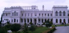 Palace at Livadia in the Crimea where the Romanov family would spend vacations.