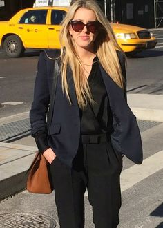 navy and black suiting