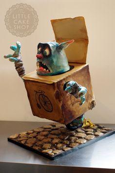 Boxtroll Extreme Armature Cake - Boxtroll cake based on the wonderful Boxtroll movie just out.