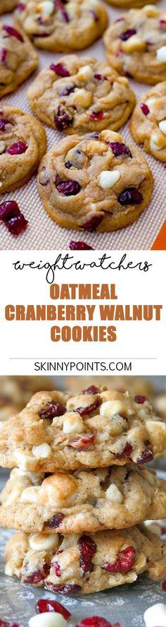 Oatmeal Cranberry Walnut Cookies - Weight watchers SmartPoints