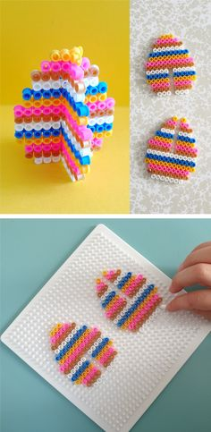 Easter Brunch Recipes to make the your Easter food memory unforgettable - Hike n Dip Melty Bead Patterns, Hama Beads Patterns, Beading Patterns, Easter Crafts For Kids, Diy For Kids, Hama Beads Design, Peler Beads, Diy Perler Beads, Iron Beads