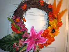 Sister's Etsy store, check out her spring/summer wreaths!