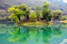 Lake in Tenno, Trentino, Italy