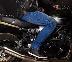 JET Motorcycle Jeans Kevlar Safety Trousers Aramid Lined Jeans Armoured Blue W 34 L 32