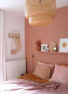 Home Interior Pictures Interior terra wall boho bedroom styling inspiration pink wall - homedesign.Home Interior Pictures Interior terra wall boho bedroom styling inspiration pink wall - homedesign House Interior, Bedroom Makeover, Room Decor Bedroom, Bedroom Orange, Bedroom Decor, Bedroom Interior, Pink Bedroom Walls, Boho Room, Home Decor