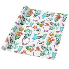 Cute Beach Party Wrapping Paper. #wrappingpaper #beachpartywrappingpaper https://www.zazzle.com/z/3yzxh