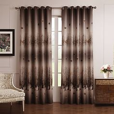 (Two Panels) Cold Colors Style Maple Leaves Blackout Curtain - USD $ 39.99