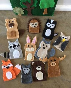 """309 Likes, 9 Comments - Hello Love Handmade (@hellolovehandmade) on Instagram: """"Puppet show!❤️ These woodland finger puppets from @courtneycreation will help your little ones put…"""""""