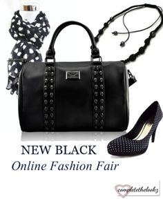 New #black fashion fair. find different #handbags #bracelets #necklaces #watches #shoes #scarfs and much more @ http://www.completethelookz.co.uk/index.php?route=product/search/newSearch&color=Black