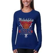 NBAStore.com - NBAStore.com Junk Food Philadelphia 76ers Women's Net Ball Long Sleeve T-Shirt - Royal Blue - AdoreWe.com
