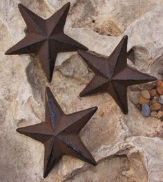 Cast Iron Star Nail SET OF 3 Garden Country Rustic Decor Western Primitive  #121 #CastIron #Country