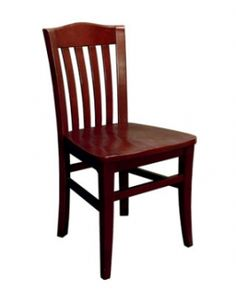 Vertical Slat Beechwood Chair - Made in the USA