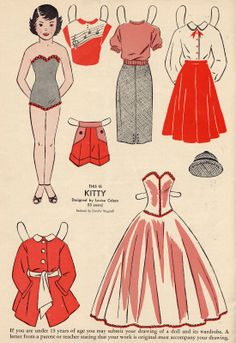 This is Kitty vintage paper dolls