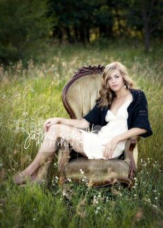 We have a similar chair with even better color that would be perfect for senior pictures in a field.    by jamiesphoto, via Flickr