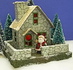 Stone Cottage by Little Glitter Houses | link includes templates | great base structure to let loose the creative juices