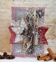 Новый год в эко-стиле.:АРТ-КЛАДОВАЯ Create Christmas Cards, Beautiful Christmas Cards, Christmas Labels, Merry Christmas Card, Xmas Cards, Handmade Christmas, Christmas Projects, Holiday Crafts, Xmas Theme