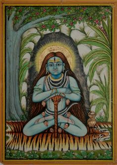 Shiva in meditation at his Mount Kailash abode. Jaipur, circa late 19th century. Collection of Peter Blohm.