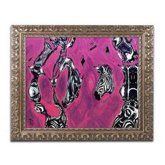 Alien Zebra Dual by Lowell S.V. Devin Framed Painting Print