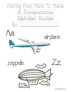 Classroom Freebies: A to Z Transportation Packet