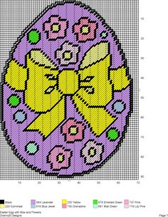 EASTER EGG WITH BOW AND FLOWERS by GrannyS Designs