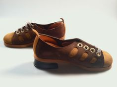 MOD Girl's TWO toned SUEDE Shoes 1960s/70s by rememberwhenemporium, $17.95