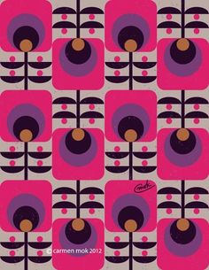 1970's retro flowers, my parents had some curtains in this pattern, but pea green instead of pink/purple.. they were yum.. not. These would look so much better (well on my nails in any case) xx