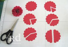 Hi all! Happy Friday to you. Many of you had asked me about instructions on the flower rosette I created on this card , and I'm happy to s...