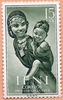 Postage Stamps - Ifni - Girl with child Old Stamps, Vintage Stamps, Going Postal, Mark Rothko, Spanish Colonial, Thing 1, How To Speak Spanish, Tampons, Stamp Collecting