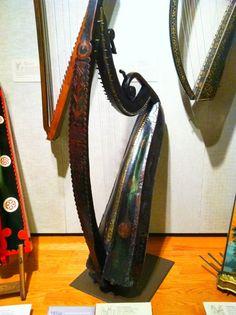Irish harp, Museum of Fine Arts, Boston.