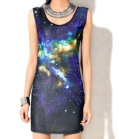 Galaxy dress!!!  romwe.com  #romwe