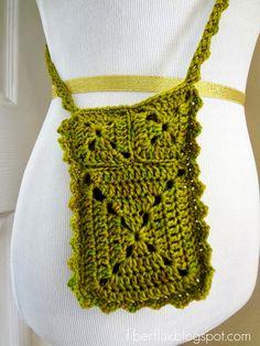 Classy Crochet: Free Crochet Pattern...Ruffle Travel Pouch