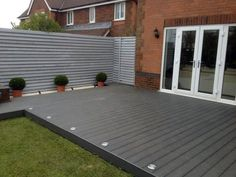 Garden decking and patio ideas for gardens small and large from traditional brick paving to modern tiles and wooden decking See more ideas about Garden decking ideas lig Small Garden Decking Ideas, Garden Ideas Uk, Patio Ideas, Small Backyard Decks, Backyard Ideas, Small Back Garden Ideas, Small Decks, Decking Ideas On A Budget, Simple Deck Ideas