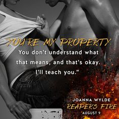 """►►►☠ #BadassBikerAlert ☠ #PreOrder it Now!◄◄◄ Reaper's Fire (Reapers MC, #6) by Joanna Wylde   Are you ready for Gage and Tinker's story?  Reaper's Fire releases on August 9th!  ►►►BUY LINKS◄◄◄ ►Amazon: http://geni.us/NwlS ►iTunes: http://geni.us/QQLSjv ►B&N: http://geni.us/EUAAW ►Kobo: http://geni.us/v7wJC ►Google Play: http://geni.us/8ACGp  ►►► BLURB◄◄◄ New York Times bestselling author Joanna Wylde returns to the """"wild and raw""""* world of the Reapers MC with the story of Gage and"""