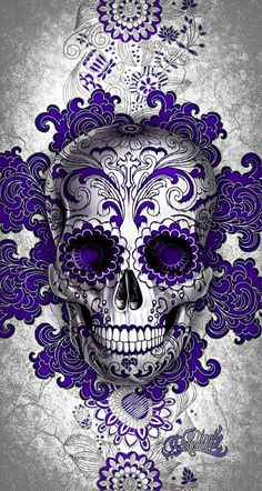 DIGOIL RENOWNED FLORAL SUGAR SKULL PURPLE / Sindicate