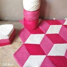 tumbling blocks afghan pattern için resim sonucu
