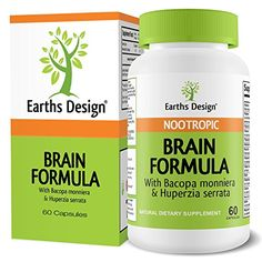 Brain Formula, Vitamin Support to Improve Memory, Focus, Concentration & Alertness, Super Nootropic Blend of DMAE, DHA, Bacopin, Bilberry, L-Glutamine, Grape Skin Extract, Dr Recommended - Rating 4.4 out of 5 stars, 213 customer reviews