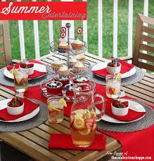 Americana table for your of July Memorial Day or Labor Day BBQ picnic & Labor Day Party Ideas | Labour Decoration and Tablescapes