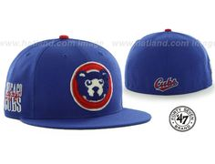 Cubs COOP CATERPILLAR Royal Fitted Cap by 47 BRAND