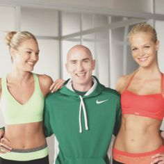 Candice Swanepoel, Erin Heatherton, and their Physical Trainer