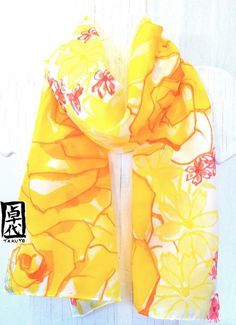 Bufanda de seda pintada a mano. Bufanda de por SilkScarvesTakuyo, $58.00