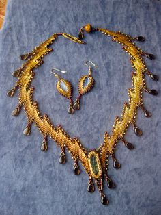 Princess of Carthage  Bronze and Gold Bargello by GenXArts on Etsy, $750.00
