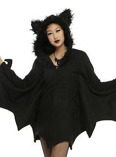 Cozy Bat Costume, BLACK