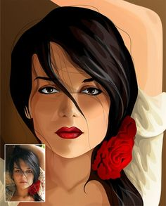 Vector Portrait  Traditional Style by ShowOffPortraits on Etsy, $99.00